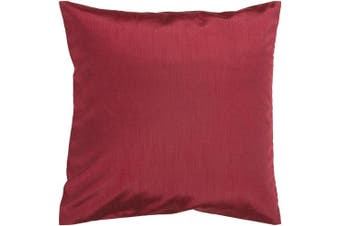 (60cm  x 60cm , Dark Red) - Surya HH-042 Hand Crafted 100% Polyester Dark Red 60cm x 60cm Solid Decorative Pillow