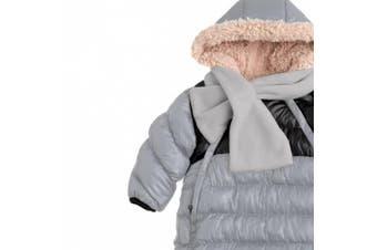 (Large, Grey/Black) - 7AM Enfant Doudoune One Piece Infant Snowsuit Bunting, Grey/Black, Large