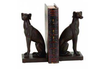Benzara Polystone Dog Bookend Pair Designed for Elite Class