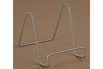 15cm Twisted Chrome Wire Stand Plate Holder Display