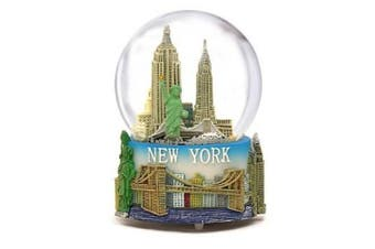 """Musical New York City Snow Globe with Statue of Liberty, Empire State Building, Landmarks, 100mm New York City Snow Globes, 6 Inches Tall, PLAYS """"NEW YORK, NEW YORK"""" (100mm)"""