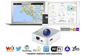 Ambient Weather WEATHERBRIDGE Universal WIFI IP Ethernet Server for Weather Stations