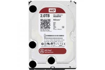 "WD 2TB Red 3.5"" SATA3 Intellipower 64Mb Cache Hard Drive Designed and tested for RAID environments"