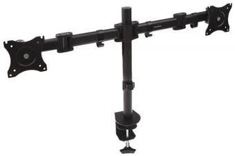 (Dual Arm) - Proper Dual Arm Cantilever Desk Mount for 13-27 Monitors