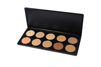 Youngman 10 Colours Camouflage Concealer Palette Face Makeup Eyeshadow Cosmetic Kit