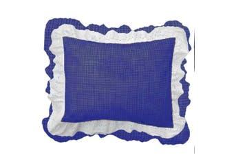 (Navy Gingham) - bkb Gingham Patchwork Pillow Sham, Navy Gingham