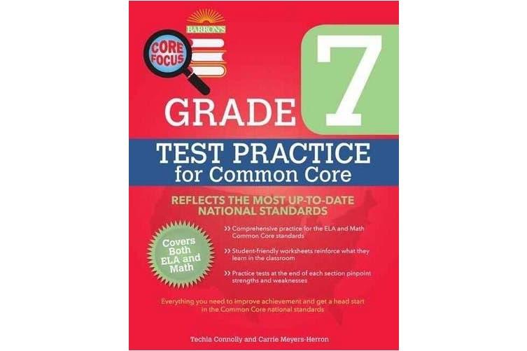 Barron's Core Focus: Grade 7 Test Practise for Common Core