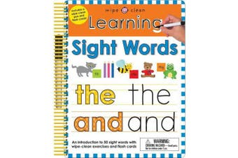 Wipe Clean: Learning Sight Words: Includes a Wipe-Clean Pen and Flash Cards! (Wipe Clean Learning Books)