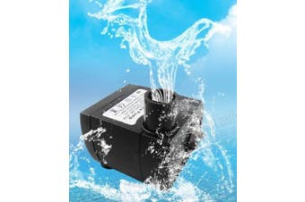 (Black) - VicTsing 80 GPH (300L/H, 4W) Submersible Water Pump For Pond, Aquarium, Fish Tank Fountain Water Pump Hydroponics with 5.9ft (1.8M) Power Cord