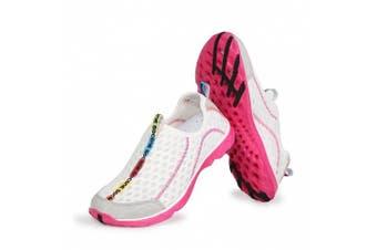 (8.5 B(M) US, White) - Aleader Women's Mesh Slip On Water Shoes