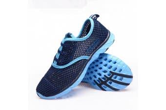 (7 B(M) US, Blue) - Aleader Women's Quick Drying Aqua Water Shoes