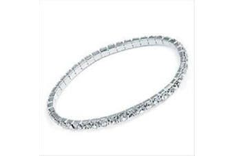 """SILVER ONE LINE ANKLET"" CRYSTAL DIAMANTE BRIDAL/PROMS/PARTIES ANKLET/PAYAL FOOT JEWELLERY **HOT** DESIGN - 1 ANKLET BY TRENDZ"