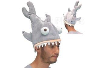 Shark Attack Bite Novelty Unisex Jaws Style Plush Fancy Dress Costume Gimmick Fish Hat