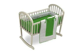 Baby Doll Royal Cradle Bedding Set, Green Apple
