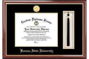 NCAA Kansas State Wildcats Tassel Box and Diploma Frame