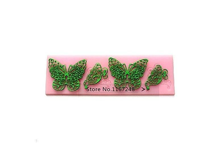Butterfly Shape Silicone Mould Lace Cake Moulds Fondant Tools Cake Decorating Tools Silicone Chocolate Icing Border Sugar Mould