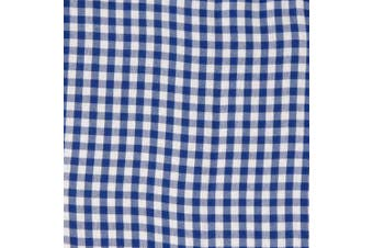 (Large, Navy) - Redmon For Kids Collection Willow Basket Gingham Liner, Navy, Large