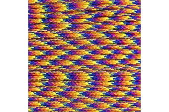 (15m, KALEIDESCOPE) - PARACORD PLANET 550 Assorted Colours of Paracord in 50 and 30m Lengths Made in The USA