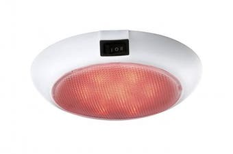 (White) - Aqua Signal 14cm 12-Volt LED Dome Light with Switch for Red\Warm White Light