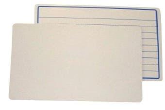 School Smart Student Ruled Whiteboard - 30cm x 46cm - Pack of 10 - White