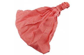 (Red) - Headwrap Headband Head Wrap Hair Band Head Band Turban Sun Head Scarf Red Gingham Headwrap