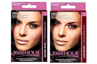 1000 Hour Eyelash and Brow Dye /Tint Kit Permanent Mascara