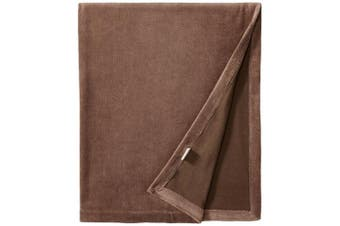 (One Size, Bark) - L'ovedbaby Unisex-Baby Newborn Organic Cotton Velour Swaddling Blanket