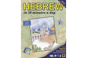 Hebrew in 10 Minutes a Day: Language Course for Beginning and Advanced Study. Includes Workbook, Flash Cards, Sticky Labels, Menu Guide, Software, [Hebrew]