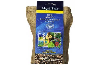 (227 g / 8 oz) - Island Blue 100% Jamaica Blue Mountain Whole Beans Coffee (240ml)