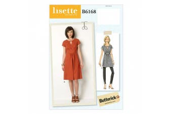 Butterick Patterns B6168A50 Misses' Tunic and Dress Sewing Template, A5 (6-8-10-12-14)