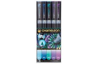 (Cool Tones) - Chameleon Art Products, Chameleon 5-Pen, Cool Tones Set