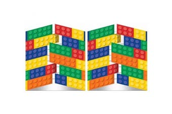Building Block Birthday Party Invitations (16 Guests)