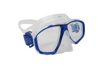 (-3.0) - Scuba Choice Blue Diving Dive Snorkel Mask Nearsighted Prescription RX Optical Corrective Lenses