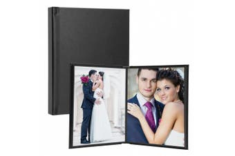 (20cm  x 25cm , Black) - Neil Enterprises Leatherette Self-Stick Photo Album, 20cm x 25cm , Black