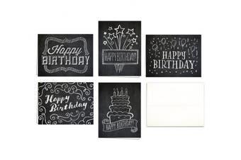 Chalk Art Birthday Party! SET OF 10 BIRTHDAY BLANK NOTE CARDS