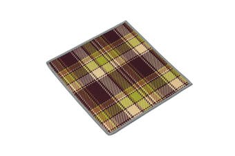 (Plaid) - Carson Plaid Pattern Double Sided Microfibre Cleaning Cloth