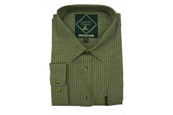 (XX-Large, Cartmel-Green) - Country Classics Long Sleeve Checked Shirts Tattersall