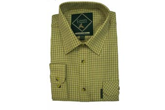 (XX-Large, Cartmel-Beige) - Country Classics Long Sleeve Checked Shirts Tattersall