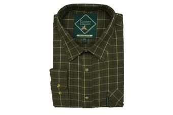 (XX-Large, Woburn-Green) - Country Classics Long Sleeve Checked Shirts Tattersall