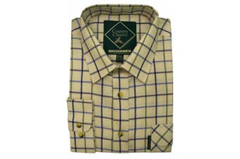 (Small, Lingfield-Navy/Sky) - Country Classics Long Sleeve Checked Shirts Tattersall