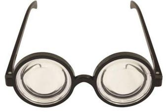 Round Glasses Goggles Minion Fancy Dress Accessory One Size
