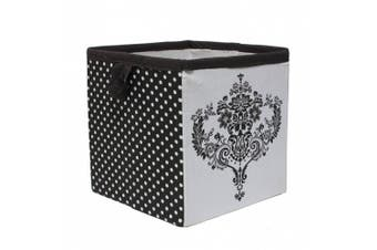 (Classic Damask Black/White) - Bacati - Storage Tote (Small 10 x 25cm x 25cm , Classic Damask Black/White)