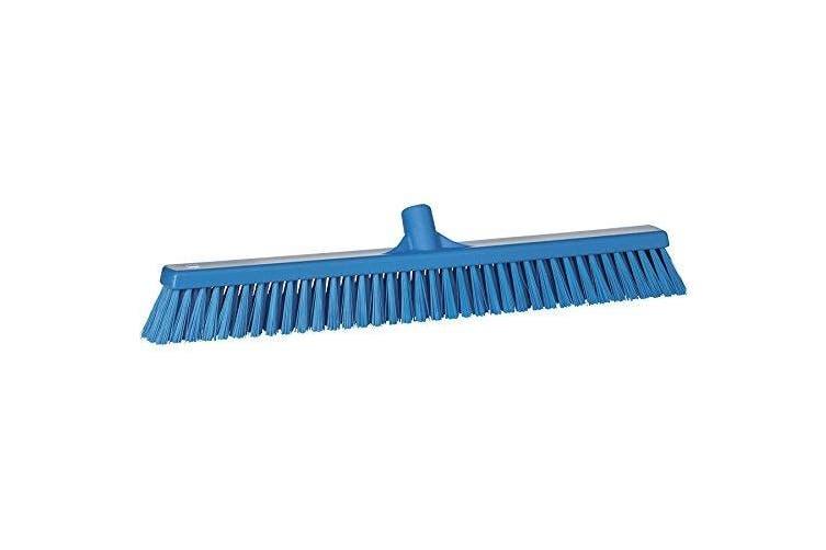 (3194, Blue) - Vikan 31943 Coarse/Fine Sweep Floor Broom Head, Polyester Bristle, Polypropylene Block, 60cm - 1.3cm , Blue