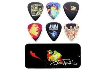 (Band of Gypsys (Heavy)) - Dunlop JHPT04H Jimi Hendrix Band of Gypsys Pick Tin, Assorted, Heavy, 12 Picks/Tin