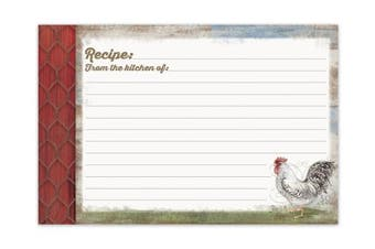 (Barnyard Rooster) - Brownlow Kitchen Recipe Cards, Barnyard Rooster, Multicolor