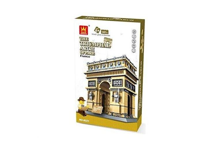 FireBeast THE TRIUMPHAL ARCH OF PARIS Building Blocks 1401 pcs set 8021.