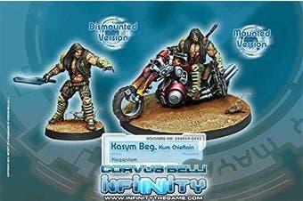 Haqqislam Kasym Beg Kum Chieftain Infinity Miniature Corvus Belli