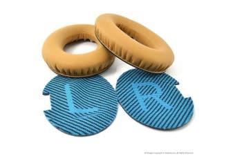 Bose QC2, QC15, QC25, QuietComfort Headphone Replacement Ear Pad / Ear Cushion / Ear Cups / Ear Cover / Earpads Repair Parts (Khaki)