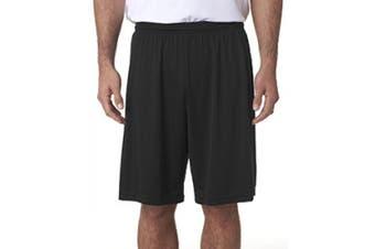 (Large, Black) - A4 23cm Cooling Performance Shorts