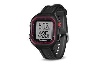 (Black and Red) - Garmin Forerunner 25 GPS Running Watch - Large, Black/Red
